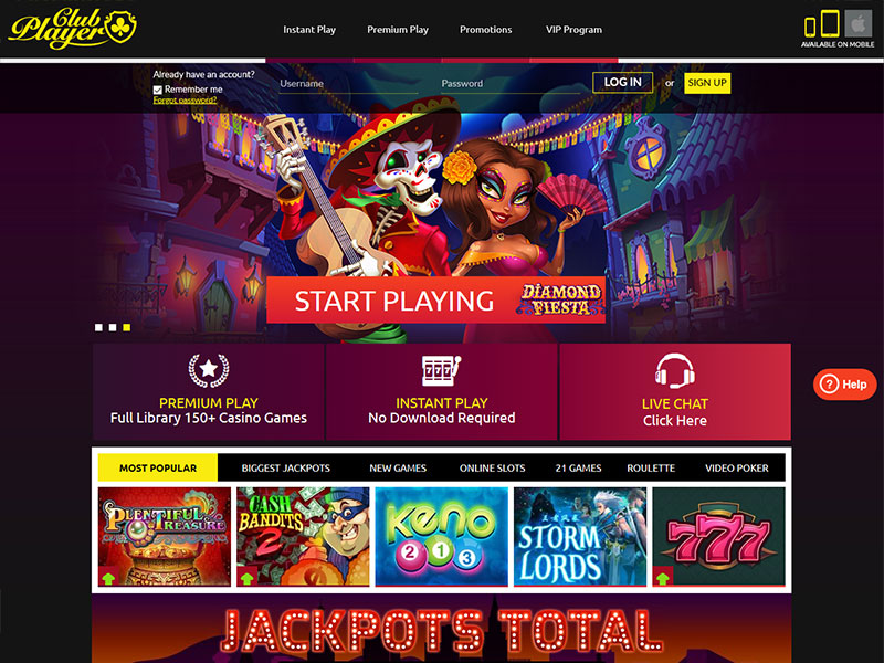 Club Player Casino 100 Free