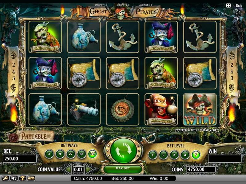 Ghost Pirates Free Slots