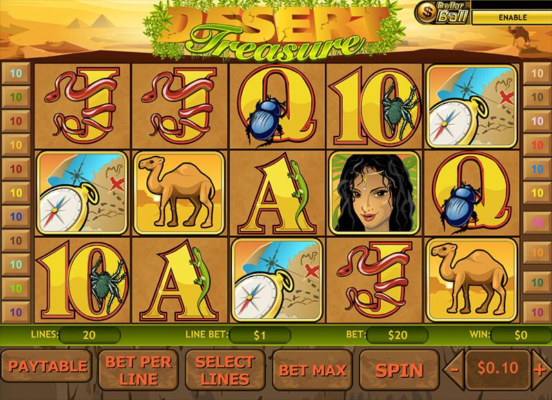 Desert Treasure Free Slots