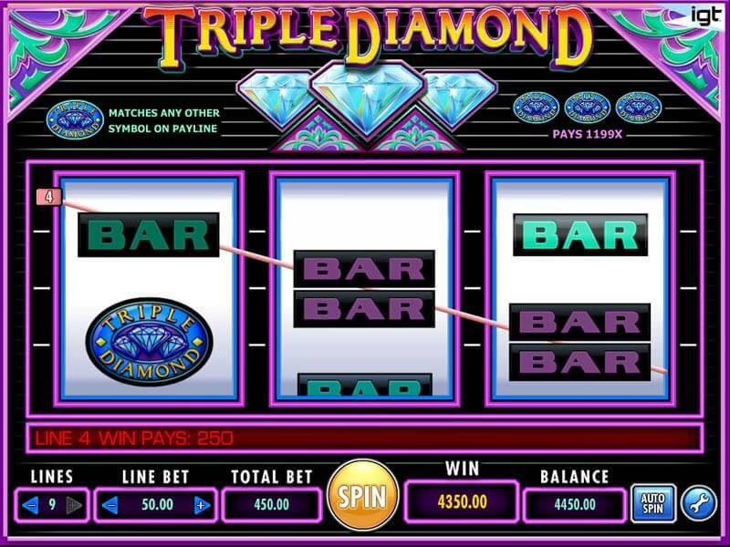 Triple Diamond Free Slots