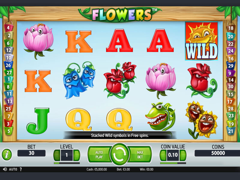 Flowers Free Slots