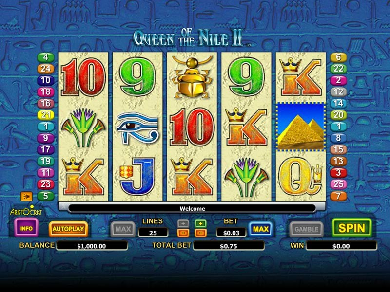 Queen of the Nile 2 Free Slots