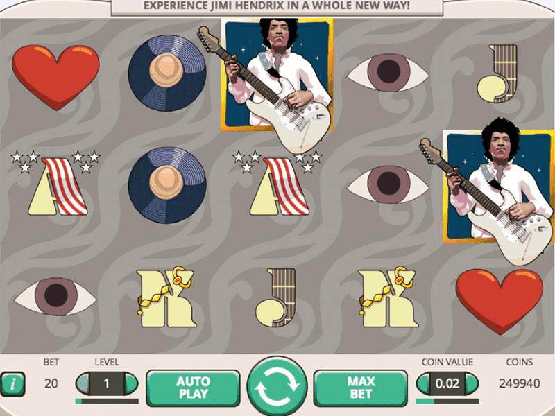 Jimi Hendrix Free Slots