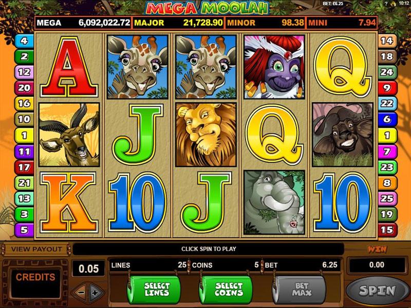 Mega Moolah Free Slots