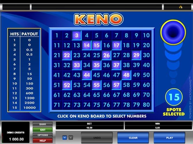 Keno Free Slots