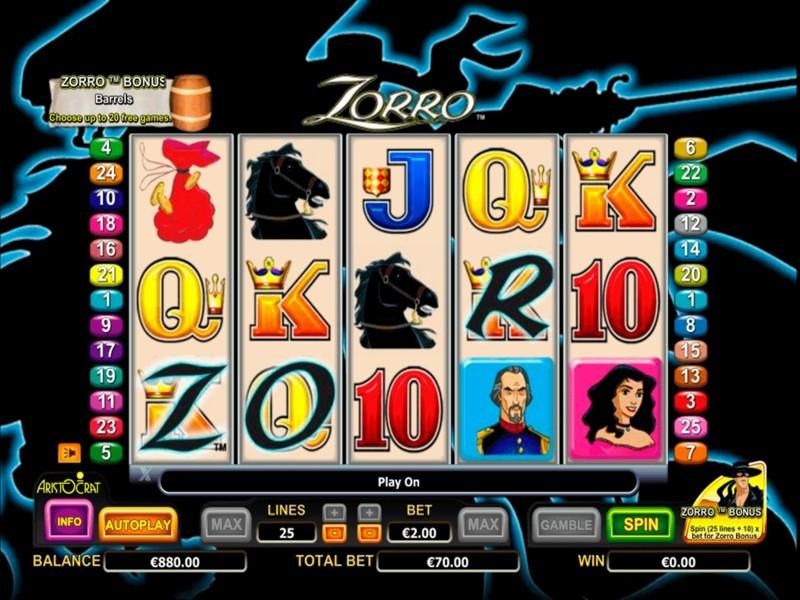 Zorro Free Slots